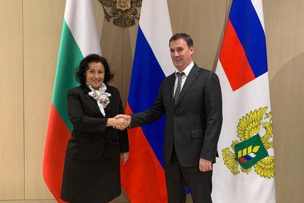 Министър Танева обсъди с руския си колега възможностите за експорт на растителни продукти