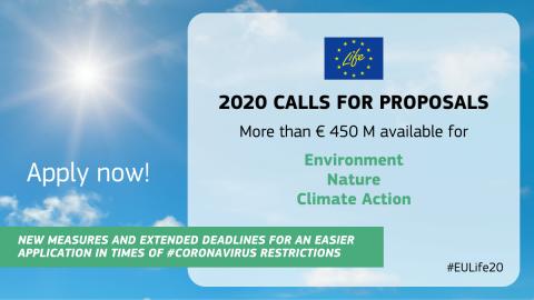 ЕК стартира процедура за представяне на проекти по програмата LIFE през 2020 г.
