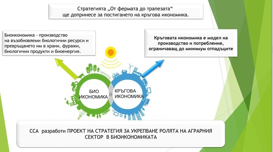 """Селскостопанска академия разработи """"Стратегия за укрепване ролята на аграрния сектор в биоикономиката"""" с препоръки към Стратегическия план на ОСП 2021-2027"""