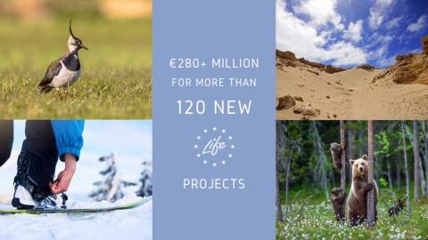 Програма LIFE: ЕС предоставя над 280 млн. евро за проекти, насочени към околната среда, природата и действията в областта на климата