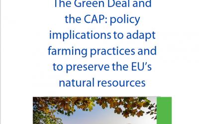"""Проучване """"Зелената сделка и ОСП: политически импликации за адаптиране на земеделските практики и за запазване на природните ресурси на ЕС"""""""