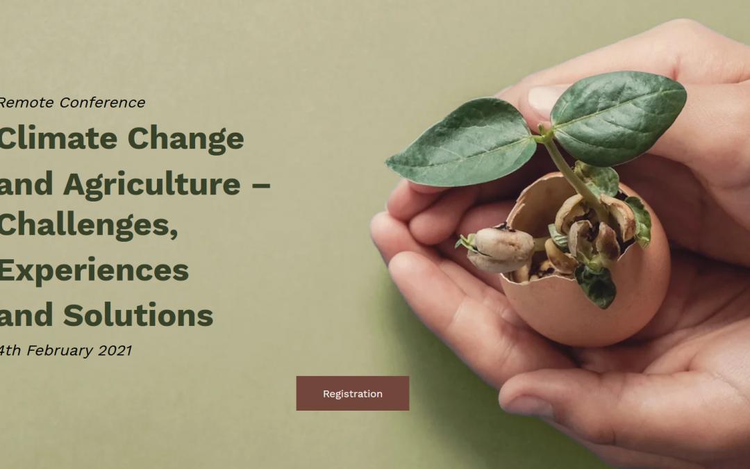 """4 февруари онлайн: международна конференция """"Климатичните промени и селското стопанство – предизвикателства, опит и решения"""""""